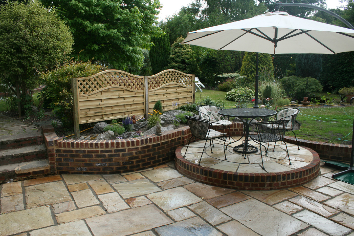 Landscaping and Patio